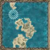Карта обрамленная антиквариатом Стоковые Изображения RF