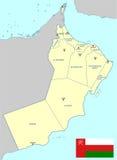 Карта Омана Стоковое Изображение