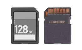 Карта памяти изолированная на белой предпосылке - 128 гигабайтах Стоковое фото RF