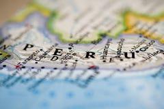 карта Перу Стоковое Изображение RF