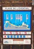 Карта пляжей Святого-Malo Стоковые Фотографии RF