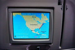 Карта полета самолета Стоковое фото RF