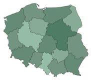 карта Польша Стоковое Изображение