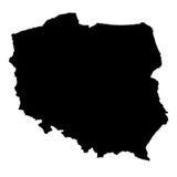 карта Польша иллюстрация штока