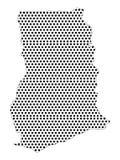 Карта поставленной точки картины Ганы