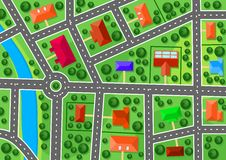 Карта пригорода Стоковое Изображение RF