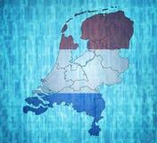 Карта провинций Нидерланд Стоковое Изображение RF