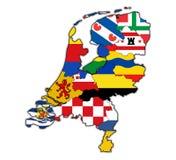 Карта провинций Нидерланд Стоковые Фотографии RF
