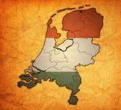 Карта провинций Нидерланд Стоковые Фото