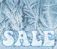 Карта продажи рождества зимы, вектор бесплатная иллюстрация