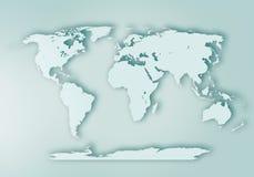 Предпосылка карты мира цифровая законспектированная стоковая фотография rf