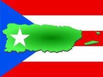 карта Пуерто Рико иллюстрация вектора