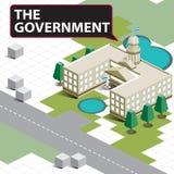 Карта равновеликая правительство Стоковые Фотографии RF