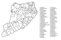 Карта района острова Staten Стоковые Изображения RF