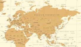 Карта России Китая Индии Индонезии Таиланда Европы Евразии - иллюстрация вектора Стоковое Фото