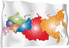 Карта России Стоковое Изображение RF