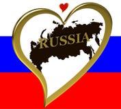 карта Россия Стоковое фото RF