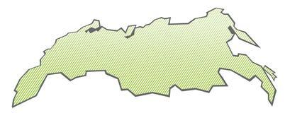 карта Россия Стоковое Изображение