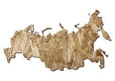 карта Россия chipboard Стоковое фото RF