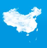 Карта самолета и облаков Стоковое Изображение RF