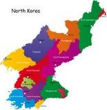 Карта Северной Кореи Стоковые Изображения RF