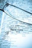 карта селективные США фокуса Стоковые Фотографии RF