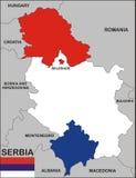 карта Сербия Стоковые Фотографии RF