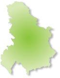 карта Сербия Стоковое Изображение RF