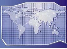 Карта сини мира Стоковые Изображения RF