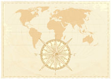 Карта слова сбора винограда Стоковая Фотография