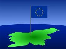 карта Словения флага иллюстрация вектора