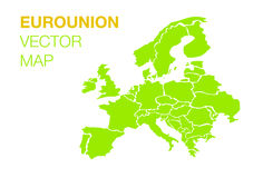 Карта соединения евро Стоковая Фотография