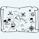 Карта сокровища острова иллюстрация вектора