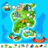 Карта сокровища пирата Стоковое Изображение