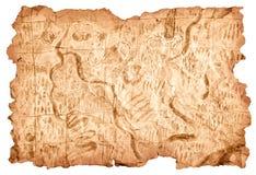 Карта сокровища Стоковое фото RF
