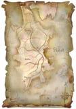 Карта сокровища иллюстрация вектора