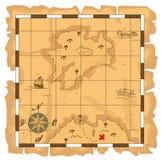 Карта сокровища бесплатная иллюстрация