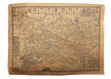 карта старая Стоковое Фото