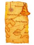 карта старая Стоковое фото RF