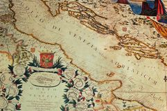 карта старая Стоковые Фото