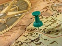 карта старая Стоковое Изображение