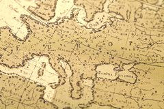 карта старая Стоковое Изображение RF