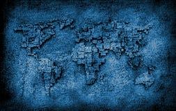 Карта Старого Мира Стоковые Изображения RF