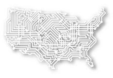 карта стилизованные США Стоковое Изображение RF