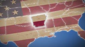 Карта США, Арканзас вытягивает вне, все заявляет доступное background card congratulation invitation видеоматериал