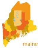 карта США Мейна иллюстрация вектора