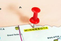 Карта США положения Минесоты Стоковое Фото