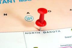 Карта США положения Северной Дакоты Стоковые Фото