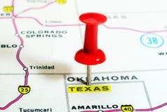 Карта США положения Техаса Стоковые Изображения RF