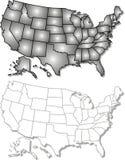 карта США Стоковые Фотографии RF